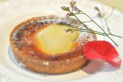 Brzoskwini tarta lub brzoskwinia kulebiak Zdjęcia Stock