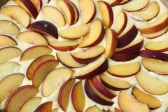 brzoskwinia kulebiak fotografia stock