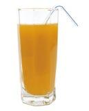 Brzoskwinia owocowy sok w szkle odizolowywającym Fotografia Royalty Free