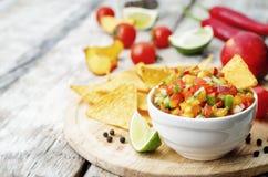Brzoskwinia salsa Fotografia Royalty Free