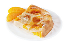Brzoskwinia tort Fotografia Stock