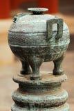brązowa chińska waza Zdjęcie Stock