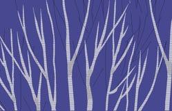 Brzoza abstrakta 3 błękita wizerunek robi nowemu krajobrazowi royalty ilustracja