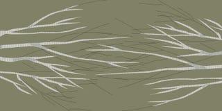 Brzoza abstrakta 1 ciemnego brązu wizerunek robi nowemu imaginacyjnemu krajobrazowi ilustracja wektor