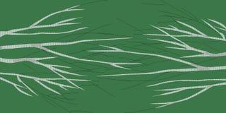 Brzoza abstrakta 1 ciemnozielony wizerunek robi nowemu imaginacyjnemu krajobrazowi ilustracja wektor
