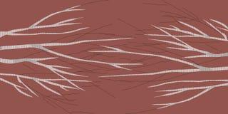 Brzoza abstrakta 1 terra bruciata brązu wizerunek robi nowemu imaginacyjnemu krajobrazowi ilustracja wektor