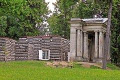 Brzoza dom i portal Fotografia Stock