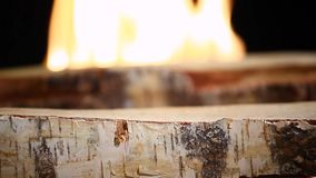 Brzoza ogienia płomienia HD materiał filmowy zdjęcie wideo