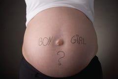 brzuch chłopcy dziewczyna Zdjęcia Stock