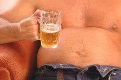 brzuch piwa pijesz Obrazy Stock