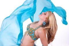 brzucha błękitny tancerza przesłona fotografia stock