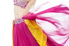 Brzucha tancerz w akci, cropped wizerunek. Obrazy Stock