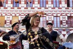 Brzucha tancerz z palcowymi cymbałkami Fotografia Royalty Free