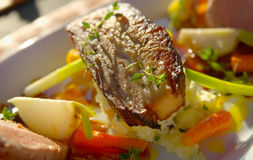brzucha wieprzowiny warzywa zdjęcia stock