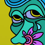 brzydką twarz Obraz Stock