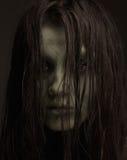 Brzydka horror dziewczyna obrazy royalty free