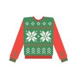 Brzydki boże narodzenie pulower z rogacza wzorem Fotografia Royalty Free