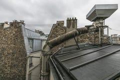 Brzydki dachowy widok zdjęcie royalty free