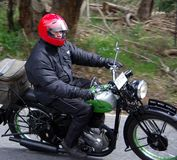 BSA Motorcycle. 1941 BSA M20 motorcycle on the Bay to Birdwood Run in the Adelaide Hills. Entrants 0114 (P Long), 28 September 2008 Stock Photography