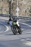 BSA-Motorfiets bij de landweg Stock Afbeeldingen