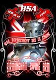 BSA-motormotor Royaltyfria Bilder