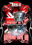 BSA silnika silnik obrazy royalty free