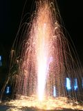 Fireworks, Buddhist Lent Day of Thailand royalty free stock image