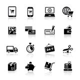Básico - ícones da compra Foto de Stock Royalty Free