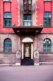 BSNL印度办公室的词条门 免版税库存照片