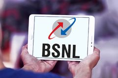 BSNL telecommunications company logo Stock Photo