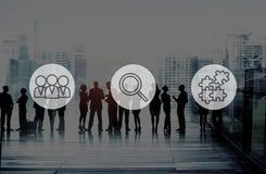 Búsqueda de concepto corporativo del trabajo en equipo del reclutamiento de los recursos humanos Fotografía de archivo libre de regalías