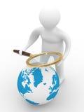 Búsqueda global. 3D aislado Imágenes de archivo libres de regalías