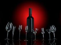 bäst önskar alla wines Arkivbilder