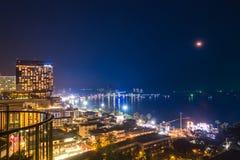 Bästa sikt av den Pattaya staden Arkivfoton