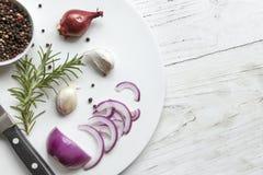 Bästa sikt för matbakgrund Arkivbilder