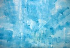 Bstract akwareli błękitny tło Zdjęcie Stock
