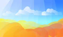 Аbstract autumn background. Abstract autumn background with flat gradient waves vector illustration