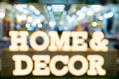 Bstract blurred furniture home decor shopping expo background.  stock images