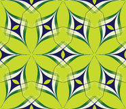 A bstract bright seamless pattern on a green Stock Images