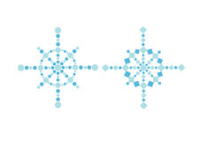 Bstract christmas snowflakes Royalty Free Stock Images