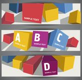 Bstract color cubes Royalty Free Stock Photos