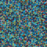 Bstract Geometric Seamless Pattern of Colored Triangles. Stock Photos