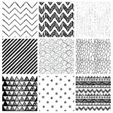 Аbstract Hand Drawn Seamless Background Patterns Stock Image
