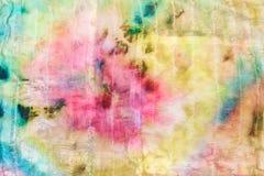 Bstract kwiecisty wzór na zaszytym jedwabniczym batiku Fotografia Royalty Free