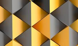 Bstract pyramidbakgrund med apelsinen och Grey Colors Royaltyfri Bild