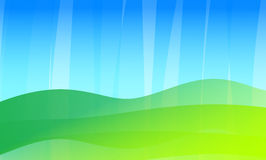 Аbstract rainy summer background. Abstract rainy summer background with flat gradient waves Stock Photography