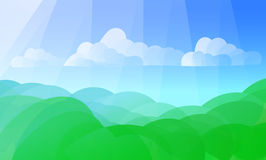 Аbstract summer background. Abstract summer background with flat gradient waves Stock Photography