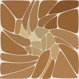 Bstract vector pattern of pebbles. Isolated from the brown background - Vektorgrafik. Bstract vector pattern of pebbles. Isolated from the brown background vector illustration