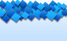 Аbstract wallpaper with blue squares . Stock Photography