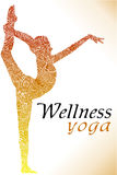 Аbstract yoga background - vector illustration Royalty Free Stock Photos